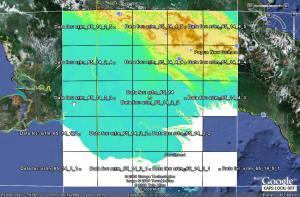 Download ไฟล์ SRTM DEM ขนาด 1 องศา x 1 องศา ด้วย Google Earth