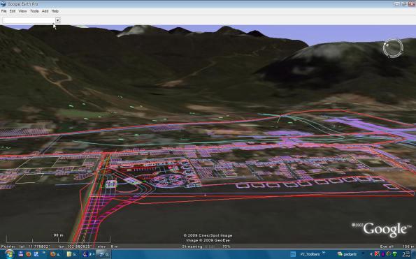 แสดงภาพลายเส้น Autocad บน Google Earth