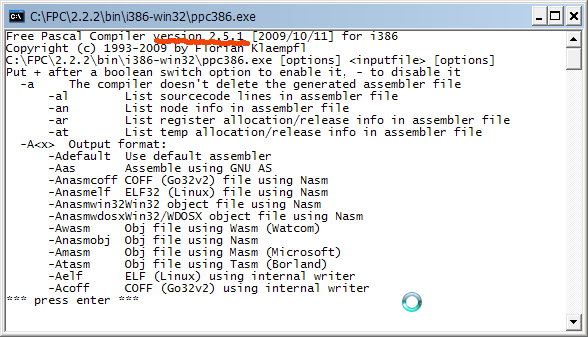 ตรวจสอบเวอร์ชั่นของ ppc386.exe