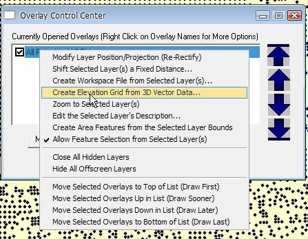 Create elevation grid.