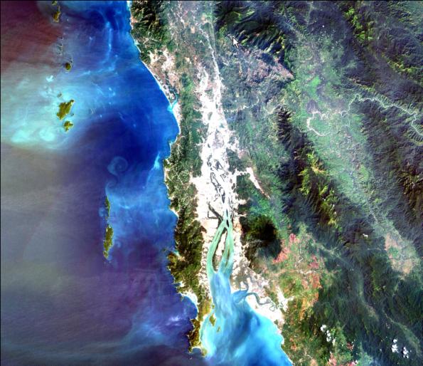 ภาพถ่ายดาวเทียม Landsat 7