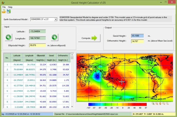 geoid height calculator